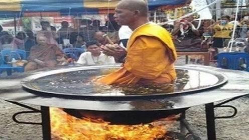 泰国高僧不服中国少林武功,亲自下油锅表演,当地人笑而不语