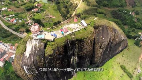 世界上最奇特的石头,裂缝石梯形似拉链,引多人攀爬