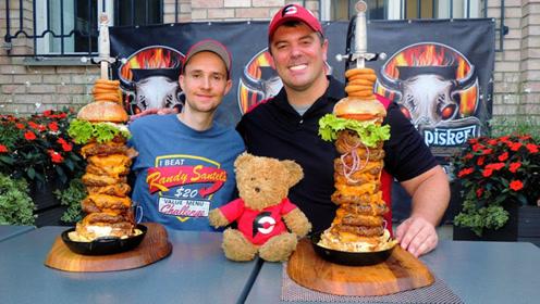 一个胖子跟一个瘦子吃汉堡比赛,现场一片狼藉,到底谁是赢家?