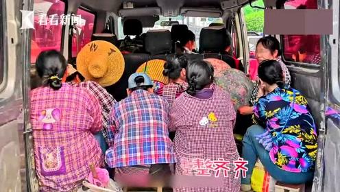 超载小客车被民警拦下,3人座竟挤了7个人!