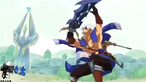 《王者别闹》夏侯惇很潇洒,空血对敌,但还是不忘摆出帅的姿态!