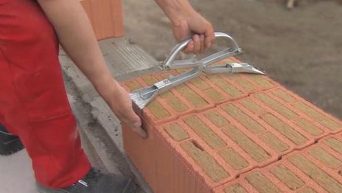 技术精湛的建筑工人,用这些工具建房子效力太高了!