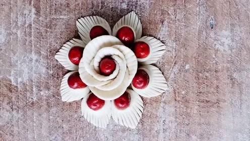 花样面食之红枣花朵花卷,营养美味,做法简单!