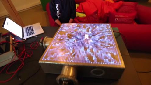科技创意:伴随音乐变化的火焰,听觉与视觉的双重盛宴!