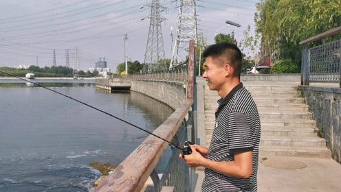 路亚钓白条,一撸一大串!北京小伙这方法太棒了!