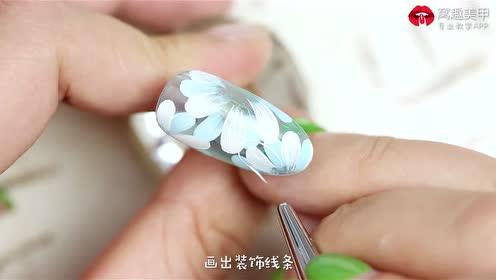 蓝色琉璃层次花