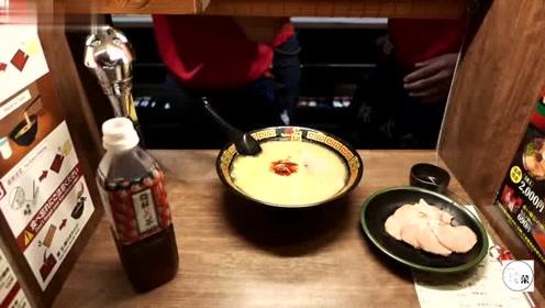 实拍日本福冈本地拉面,色香味俱全,味道相当好,比兰州拉面还香