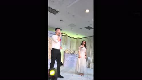 婚礼当天,伴郎伴娘唱的这首歌实在太好听了,怎么都听不够!