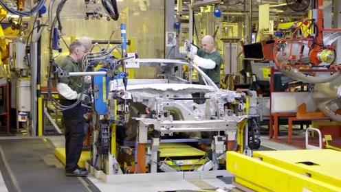 实拍捷豹汽车生产制造过程,这场面可不多见,太先进了