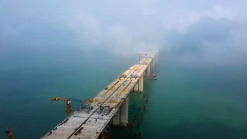 震撼现场!平潭海峡公铁两用大桥关键点合龙:抢在台风登陆前
