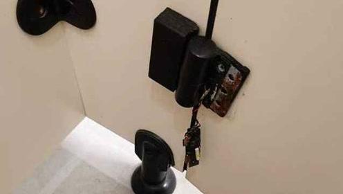 女生警惕!曝办公楼女厕藏针孔摄像头:在门折页处,不易发现