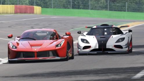 柯尼塞格单挑最强法拉利,结果却输在起跑线上,最速量产车?