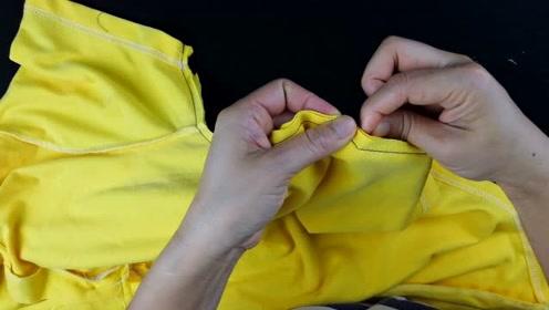 运动短袖T恤太宽了怎么办?老师傅教你宽改窄,不用再跑裁缝店了