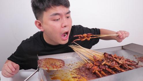 小伙爱吃火爆鱿鱼,怒买一台铁板烧机,以后在家就可以吃到了