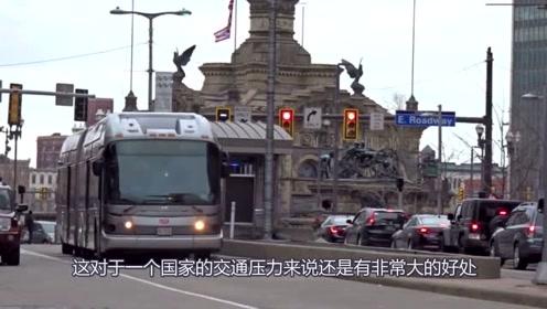 """""""最霸道""""的公交车,设有专门路线,其它车辆不能通行"""