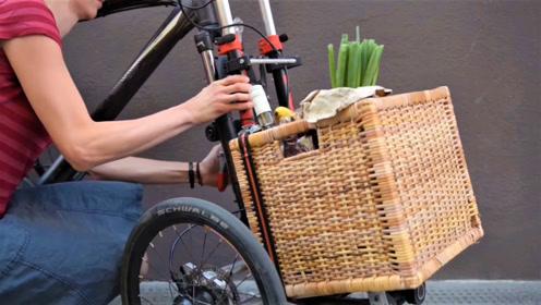 """让自行车瞬间变成为 """"小货车"""",这发明太实用了!"""
