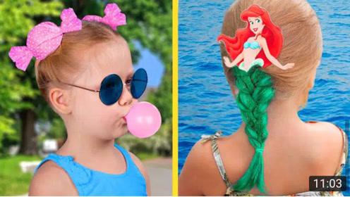 DlY萌宝漂亮的发型创意技巧,学会了将萌宝打扮得与众不同
