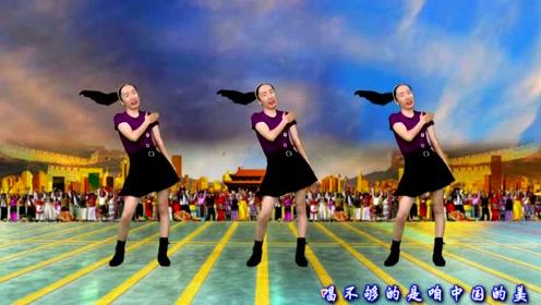 活力动感健身舞《中国的歌儿美美美》简单2组动作,轻松学会健身