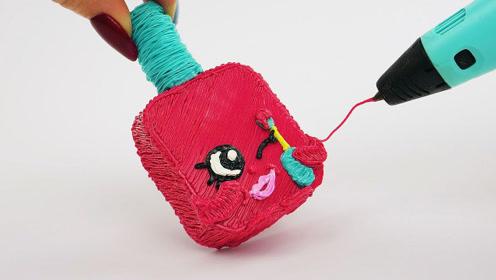 3D打造少女心指甲油瓶,成品太好看了,明年情人节就送它!