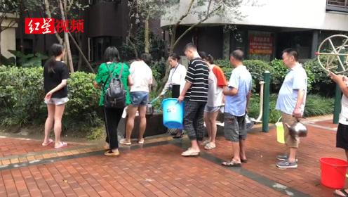 三伏天万人小区遭遇停水危机  排查后居然是小区水管被堵
