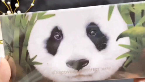 大熊猫竟然都出眼影盘了,这个配色也太大胆了,好好看