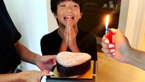 感慨颇多!曹格吴速玲晒照为儿子庆11岁生日