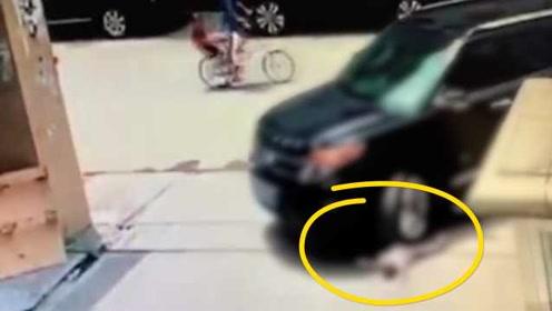 画面令人痛心!1岁幼童路口玩耍被碾压,不幸当场身亡