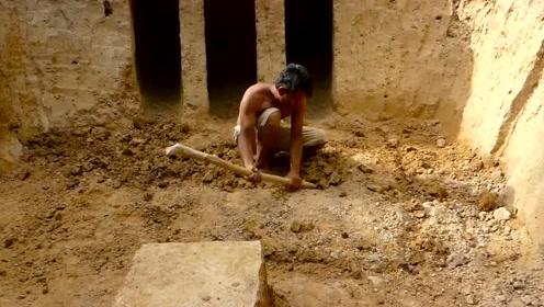 建造最神奇的秘密地下古庙与游泳池