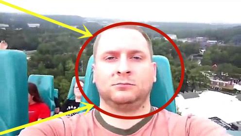 俄罗斯退役飞行员坐过山车,全程面无表情,甚至有点想笑!