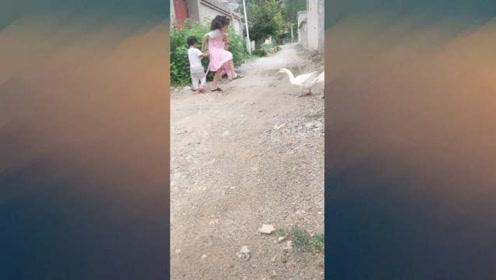 弟弟 妹妹快跑,姐姐保护你们!