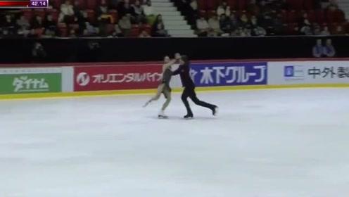 日本美女花式滑冰,没想到妹子这么放得开,裁判眼睛都看直了