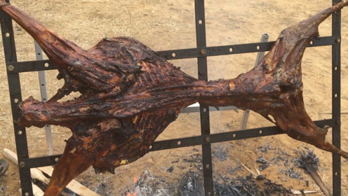 农村小哥自己做了一只烤全羊,过程非常新奇,没想到差点被退货!