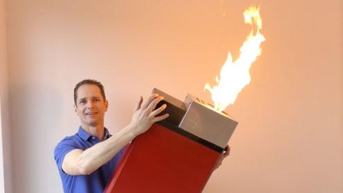 小伙发明巨型打火机,点火的时候太震撼了!一起去见识下吧