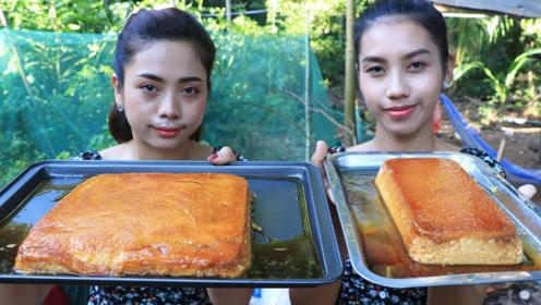 田园美食:村花巧制乳酪面包,户外享受小甜点好惬意