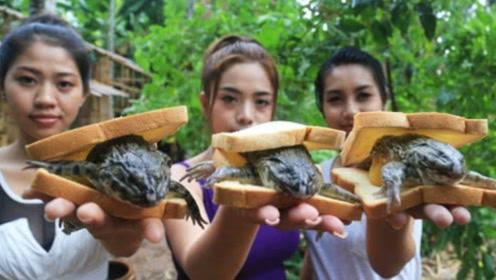 """泰国风靡""""青蛙汉堡"""",日本人表示太普通,生吃才够味"""