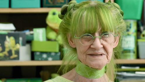 """世界上最爱绿的人,人送外号""""绿女士"""",网友表示很有故事!"""