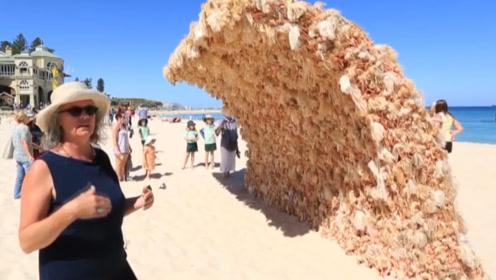 """澳洲海滩出现""""沙子海浪"""",上面挂满脑袋,游客:什么鬼"""