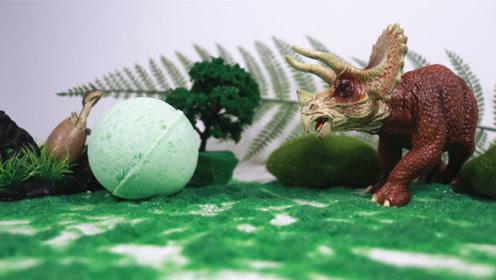 制作恐龙蛋浴泡球,嘘,恐龙妈妈在呢。
