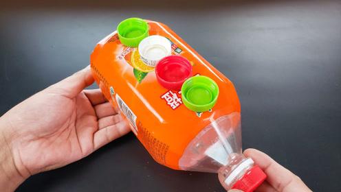 塑料瓶不要扔,粘几个瓶盖放在厨房,全家人都抢着用,方法太棒了
