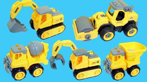 建筑工地里的各种工程车玩具