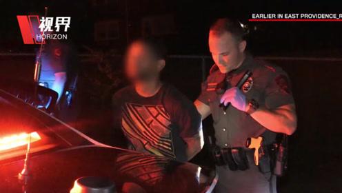 实拍美国巡警被瘾君子猛咬手指 不得已用电击枪制服嫌犯