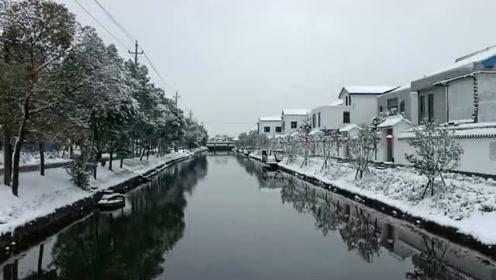 北横套的雪景
