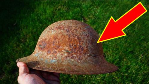 二战时期的士兵头盔质量有多好,翻新之后傻眼了,惊艳众人!