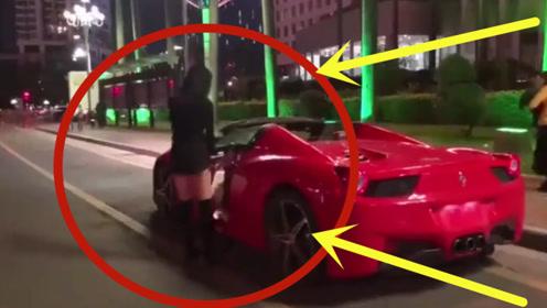 美女和男友分手后,深夜马路上开豪车,疯狂飙车!