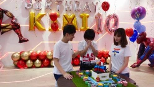 林志颖为KIMI庆祝10岁生日, 贴心准备漫威主题派对