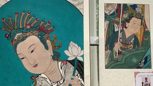 硬核!北京一所中学开壁画课,老师:要教给学生传统文化