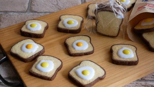 高颜值又美味的鸡蛋烤饼干,做法竟如此简单,跟着视频做起来吧