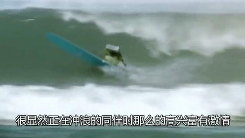 大家日复一日的工作,唯独这个机器人在下班后会去海上冲浪