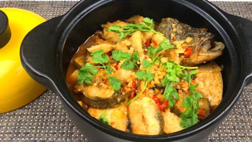鲈鱼除了清蒸红烧还能怎么做?新做法砂锅鲈鱼豆腐,鲜嫩爽滑下饭