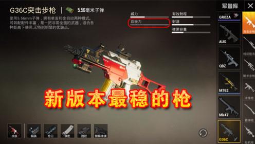 和平精英:新版本最稳的枪是哪把?碾压M4,错过太可惜了!